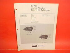 1970 FORD GALAXIE 500 XL CONVERTIBLE METEOR BENDIX AM-FM RADIO SERVICE MANUAL 70