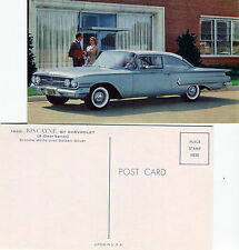 1960 Chevrolet Biscayne 2-Door Sedan Advertising Postcard