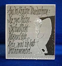 Aus des Knaben Wunderhorn - Eggebrecht-Presse, schöne illustrierte Ausgabe 1963!