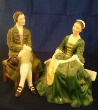 ROYAL DOULTON FIGURINES A LADY AND GENTLEMAN FROM WILLIAMSBURG, HN2227,2228