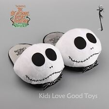 The Nightmare Before Christmas Jack Skellington Soft Plush Slipper Shoes Gift