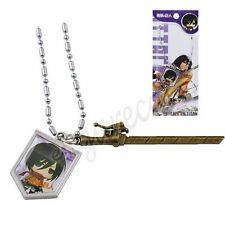 Japanese Anime Attack On Titan Cute Image & Blade Pendant Necklace Cosplay #02