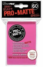 60 ULTRA PRO SMALL PRO-MATTE BRIGHT PINK DECK PROTECTORS SLEEVES Yugioh Matte