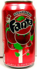 NEW FULL 12 Ounce Can American Coca-Cola's Fanta Strawberry USA 2009