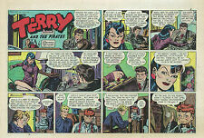 Terry and the Pirates by Wunder - full color Sunday comic page - April 13, 1947