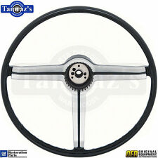 68 Chevy Sport Deluxe Steering Wheel 3 Spoke & Brushed Chrome Spider Insert