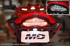 2014-2016 Ducati Monster 821 1200 SEQUENTIAL Signal LED Tail Light Clear Lens