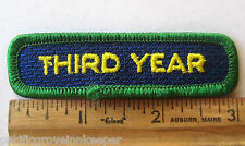Girl Scout 1990s THIRD 3rd YEAR REDEDICATION PATCH Registration Membership Badge