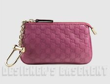 GUCCI dusty Rose MICRO GUCCISSIMA Leather POUCH Case clip-on wallet NIB Authentc