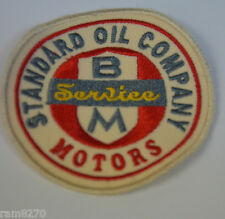 STANDARD OIL CO. SERVICE  EMBROIDERED SEW ON  PATCH BADGE GAS MOTOR RACING