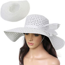 Fashion Women Wide Large Brim Floppy Fold Summer Beach Sun Straw Beach Hat