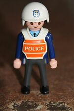 PLAYMOBIL - personnage - HOMME Policier motard casque police uniforme sherif