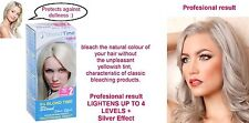 BLOND SILVER EFFECT Hair Bleaching Colour Kit Professional BEST effect