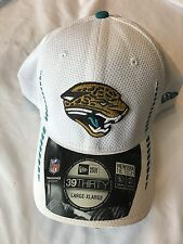 Team Jacksonville Jaguars NFL New Era 39Fifty White Cap Size M/ L NWT