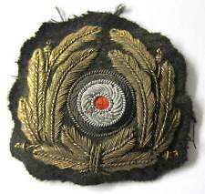 German WW2 Kriegsmarine Officers Bullion cap Wreath Aged WWII Kranz Navy Badge