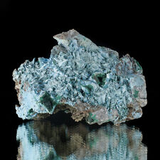 "3.8"" Luminous Turquoise PLANCHEITE Radiating Acicular Crystals Congo for sale"