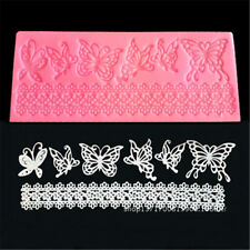 Butterfly Shape Silicone Lace Mold Flower Sugar Fondant Cake Mould Christmas