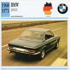 1968-1971 BMW 2800CS Classic Car Photo/Info Maxi Card