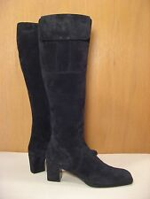 YSL Yves Saint Laurent Italy Black Suede Knee High Boots - Size 6 M or 36