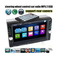 "6.6"" 2 Din In-dash Touch Screen Bluetooth Car Stereo MP5 Audio Player FM Radio"
