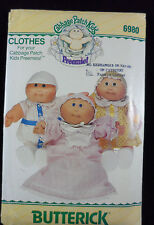 Butterick Sewing Pattern 6980 Cabbage Patch Preemies Doll Clothes UNCUT 1984