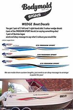 "Quintrex Freedom Boat Decals and Graphics ""Wedge Kit"" 2000mm kit"