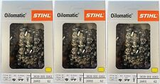 "3 PaCK 16"" STIHL Chainsaw Chain 26RS 62 Rapid Super   3639 005 0062 26 RS 62"