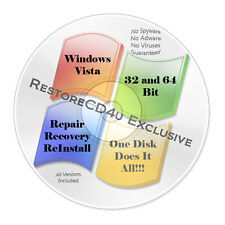 Windows Vista SP2 All Versions 32 and 64bit - Install, Recovery, Repair Boot DVD