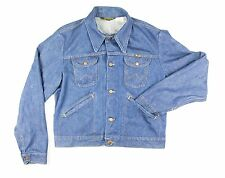 VTG 90's Wrangler Indigo Denim Jean Jacket Mens Size 44 Large Made in USA