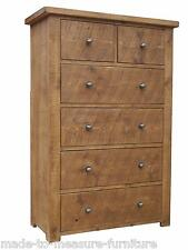 any size made - New Real Solid Wood Chest of Drawers Rustic Plank Pine Furniture