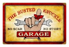 Busted Knuckle Garage No Scar rusted steel sign 460mm x 300mm    (pst) REDUCED!!