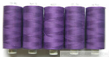 5 REELS PURPLE POLYESTER SEWING THREAD COTTON 120s ( 221 )