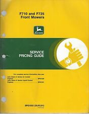 John Deere Service Pricing Guide F710 F725 Front Mowers SPG1032 30Jul91   . F152