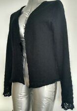 WHISTLES London mohair evening cardigan shrug size XS fully lined black Stunning