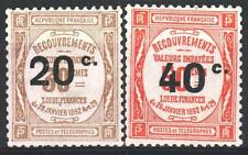 """FRANCE STAMP TAXE 49 / 50 """" 2 TIMBRES SURCHARGES """" NEUFS xx LUXE   M966"""