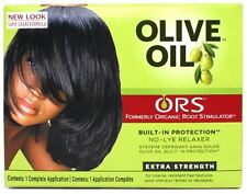 Organic Root Stimulator Olive Oil No Lye Relaxer Kit, Extra Strength (Pack of 4)