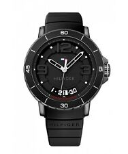 Tommy Hilfiger Original 1791249 Men's Black Resin And Silicone Watch 47mm