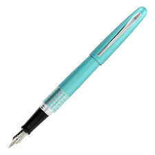 """Pilot MR Retro Pop Fountain Pen, Turquoise Barrel/Dots Accent, Fine, Black Ink"""
