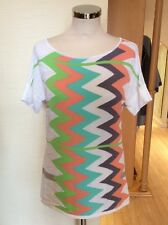 Aldo Martins Knitted Top Size 18 BNWT Cream Lime Aqua Apricot RRP £104 NOW £47
