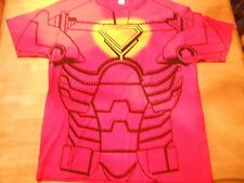 OFFICIAL MARVEL IRON MAN COSTUME STYLE RED T-SHIRT SIZE: XL **NEW**