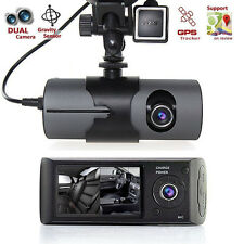 2.7'' 1080P Car DVR Camera Video Recorder Dash Cam G-Sensor GPS Dual Len Camera