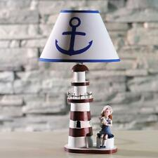 Shabby Chic Lighthouse Desk Lamp Light Cute Girl Bedside Lighting Table Lamp
