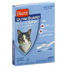 "Hartz Flea - Tick Cat Collar, White 13"" 1 ea"