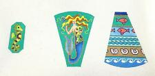 *NEW* Elegant Mermaid Scissor Case & Fob handpainted Needlepoint~ B. Stofft