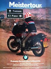 1979 BMW 'R100RS' Motor Cycle ADVERT - Vintage Original Print Ad 492d