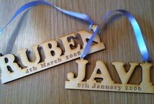 Personalised Wooden Plaque Christening Baby Gift Birthday