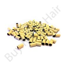 Silicone Lined Copper & Copper Micro Rings Hair Extensions 1g Beads Stick i-tip