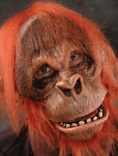 Orangutan Monkey Ape Latex Adult Halloween Mask Action Mouth Moves