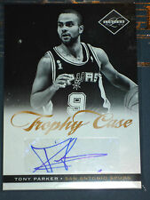BASKETBALL SPURS ULTRA RARE AUTO AUTOGRAPH CARD TONY PARKER LIMITED 15/25 MINT