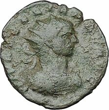 AURELIAN  receiving wreath from woman Authentic Ancient Roman Coin  i40984